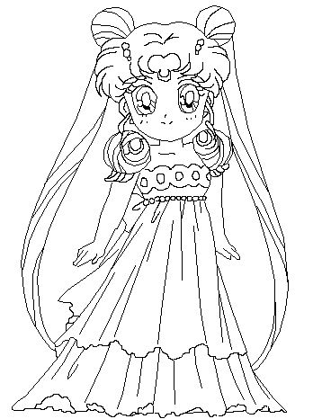 sailor moon princess serenity coloring pages